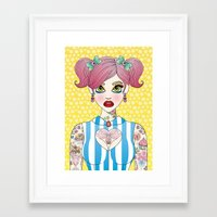 Sticky and Sweet Framed Art Print