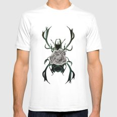 Danger Passing Mens Fitted Tee White SMALL