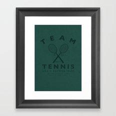 Team Tennis Framed Art Print