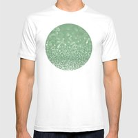 Seafoam bokeh Mens Fitted Tee White SMALL