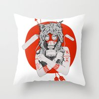 Lady of the Wild Throw Pillow