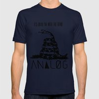 Snake and Band (Analog Zine) Mens Fitted Tee Navy SMALL