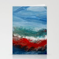 By The Angry Seashore Stationery Cards