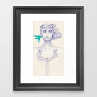 Flowery 03 Framed Art Print