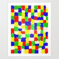 Messy Mosaic Art Print