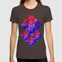 Flowers II Womens Fitted Tee Brown SMALL