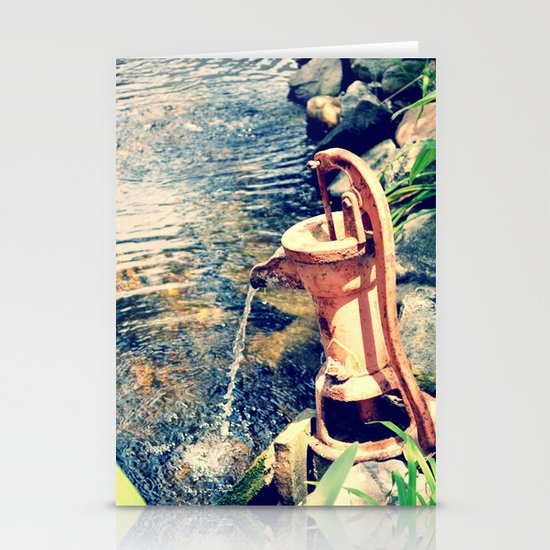 waterfountain2 Stationery Card