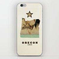 Oregon State Map Modern iPhone & iPod Skin