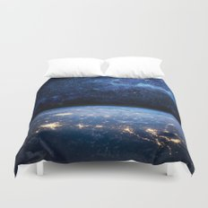 Earth and Galaxy Duvet Cover