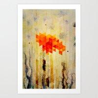 Triangle Design Nature Art Print