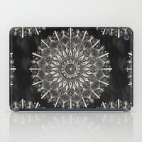 Vintage Mandala On Black iPad Case
