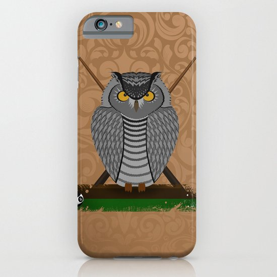 owl playing billiards iPhone & iPod Case