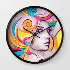 I AM MY FAVORITE COLOR Wall Clock