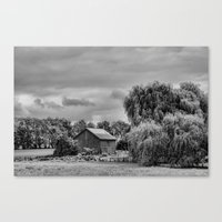 Down On The Farm Black A… Canvas Print