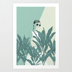 The Blue Nature Art Print