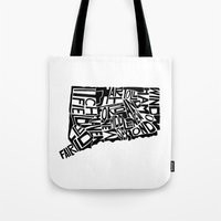 Typographic Connecticut Tote Bag