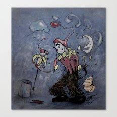 Night Clown Canvas Print