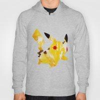 Pikachu - Digital Watercolor Painting Hoody
