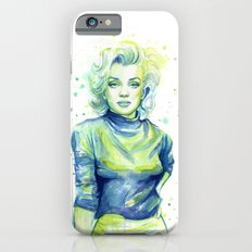 Marilyn Portrait Watercolor Painting Slim Case iPhone 6s
