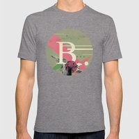 (Times) B Mens Fitted Tee Tri-Grey SMALL