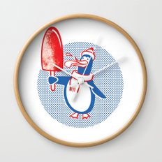 Popsicle Penguin Wall Clock