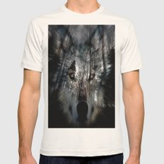 wolf Mens Fitted Tee Natural SMALL