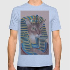 Egyptian Cat Mens Fitted Tee Athletic Blue SMALL