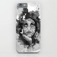 Abstract Portrait Blk/Wht iPhone 6 Slim Case