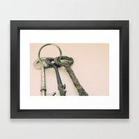 Skeleton Keys Framed Art Print