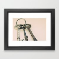 Skeleton Keys Framed Art Print