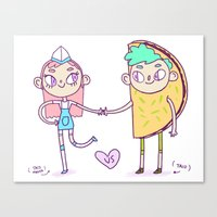 Taco Love 2  Canvas Print