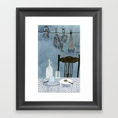 Still life with dried herbs Framed Art Print