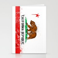 California Flag Stationery Cards