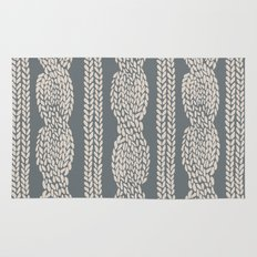 Cable Knit Grey Rug