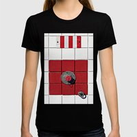 Connect the Squares Womens Fitted Tee Black SMALL
