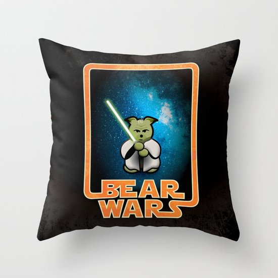 Bear Wars - the Wise One Throw Pillow