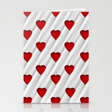 Hearts Pattern Stationery Cards