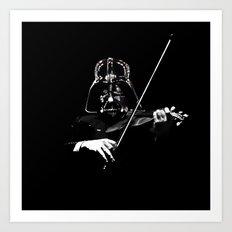 Darth Violin Vader Art Print