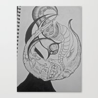 If The Moon Were An Arti… Canvas Print