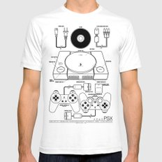 PSX White SMALL Mens Fitted Tee