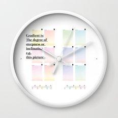 Gradient (English) Wall Clock
