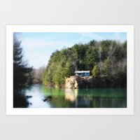 Cabin On The Lake Art Print