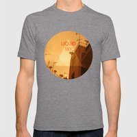 Liquid Sky Mens Fitted Tee Tri-Grey SMALL