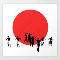 Dancing For Japan Art Print