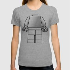 Make Yourself Womens Fitted Tee Athletic Grey SMALL