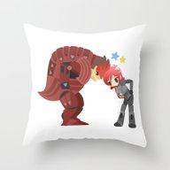 Mass Effect - Wrex And S… Throw Pillow