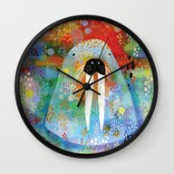 Wall Clock featuring I Am The Walrus by Rookery Design