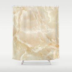 White Onyx Shower Curtain