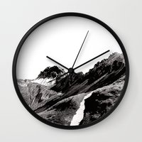 The road below the mountains Wall Clock