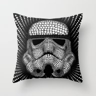 Trooper Star Circle Wars Throw Pillow